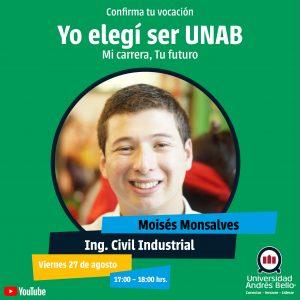 Yo elegí ser UNAB 2021 - Ingeniería Civil Industrial
